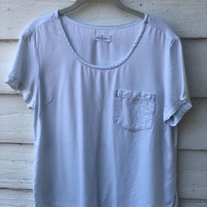 CLOTH & STONE white tee with pocket: Size M